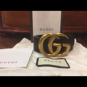 Other - 🔥New Gucci Double G Gold Brass Belt🔥